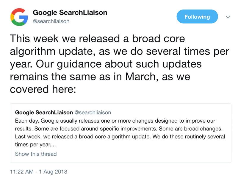 Google Medic Güncellemesi