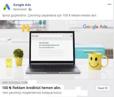 Facebook Bağlantı Reklamları