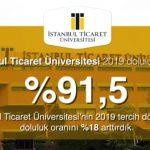 İstanbul Ticaret Üniversitesi'nin 2019 tercih dönemi doluluk oranını %18 arttırdık