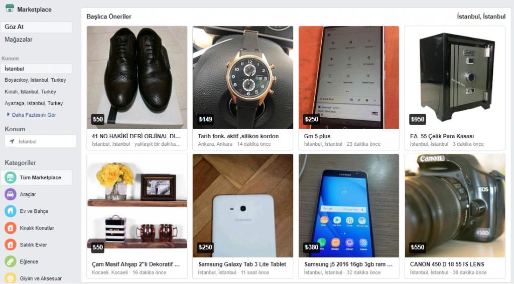 Facebook Marketplace Reklamları